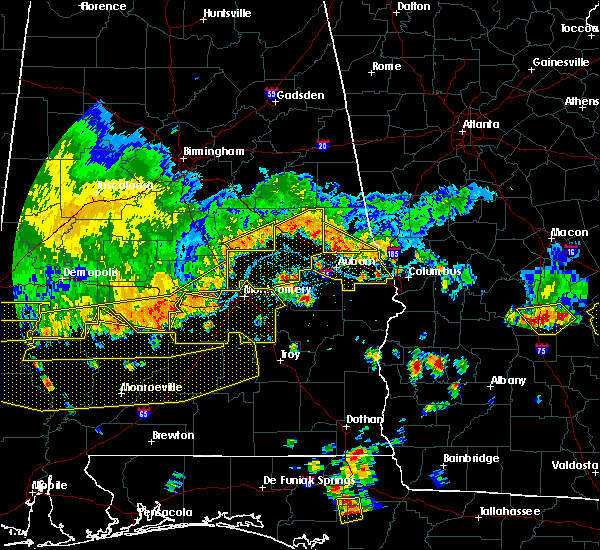 Radar Image for Severe Thunderstorms near Pike Road, AL at 6/17/2016 5:12 PM CDT
