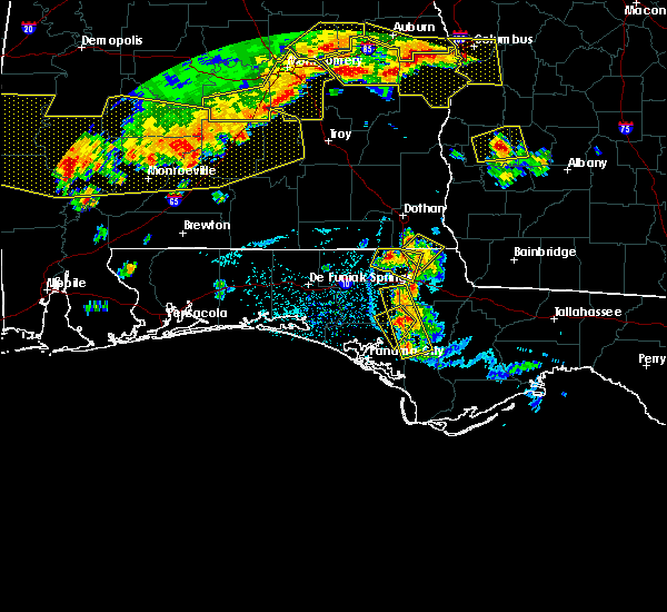 Radar Image for Severe Thunderstorms near Panama City, FL at 6/17/2016 5:46 PM CDT