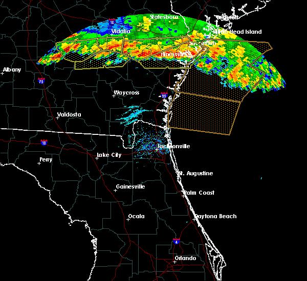 Radar Image for Severe Thunderstorms near Darien, GA at 6/17/2016 7:07 PM EDT