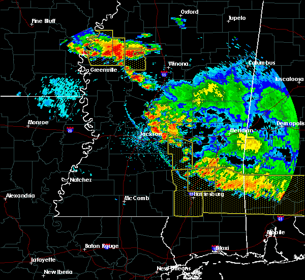 Radar Image for Severe Thunderstorms near Arnold Line, MS at 6/17/2016 6:16 PM CDT