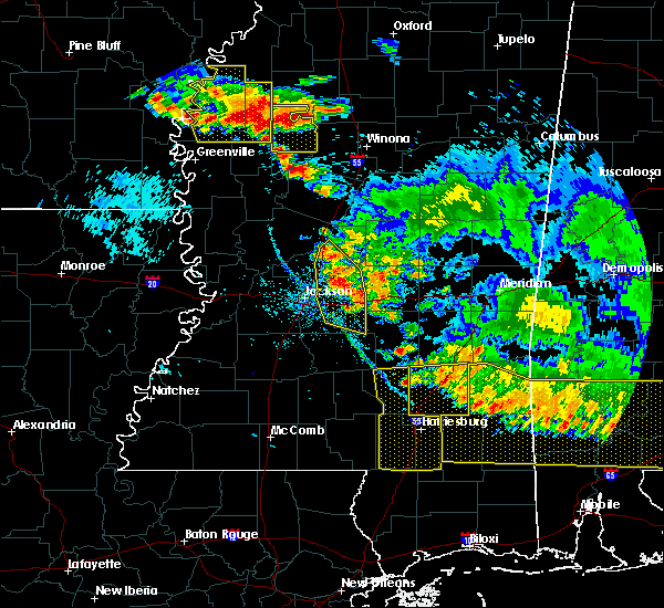 Radar Image for Severe Thunderstorms near Tchula, MS at 6/17/2016 6:20 PM CDT