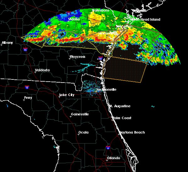 Radar Image for Severe Thunderstorms near Darien, GA at 6/17/2016 7:29 PM EDT