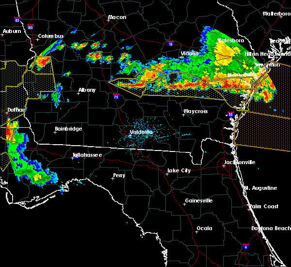 Radar Image for Severe Thunderstorms near Jesup, GA at 6/17/2016 7:32 PM EDT