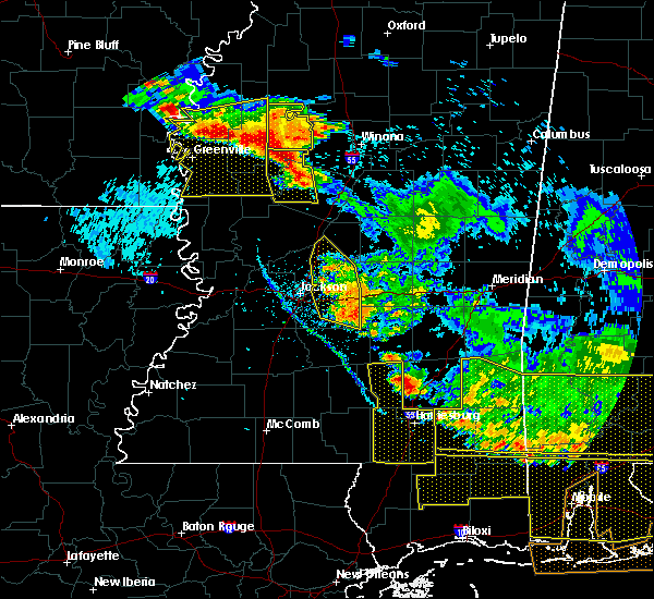 Radar Image for Severe Thunderstorms near Tchula, MS at 6/17/2016 6:45 PM CDT