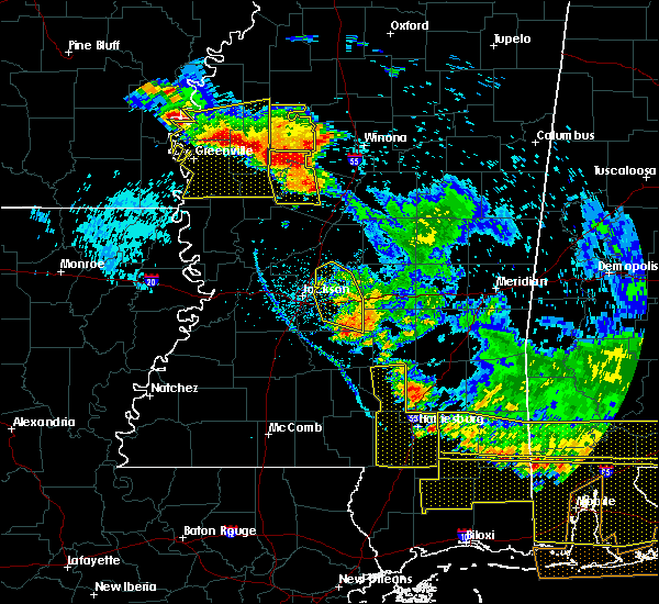 Radar Image for Severe Thunderstorms near Brandon, MS at 6/17/2016 6:55 PM CDT
