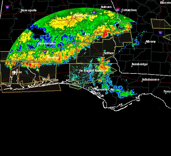 Radar Image for Severe Thunderstorms near Crestview, FL at 6/17/2016 6:58 PM CDT