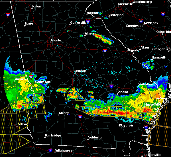 Radar Image for Severe Thunderstorms near Unadilla, GA at 6/17/2016 8:01 PM EDT