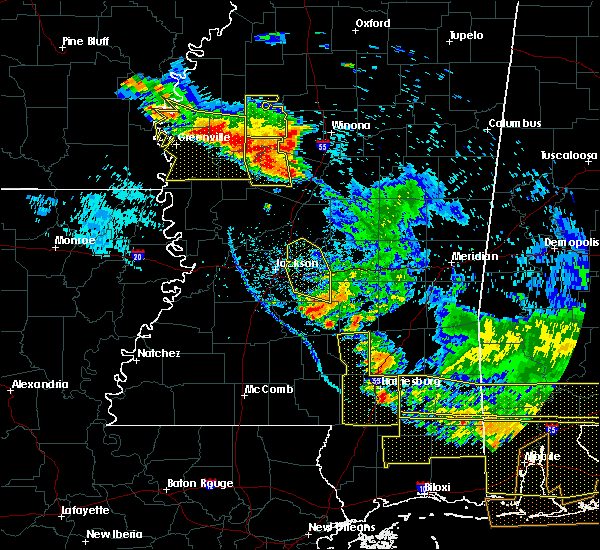 Radar Image for Severe Thunderstorms near Inverness, MS at 6/17/2016 7:05 PM CDT