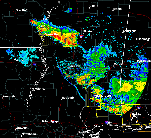 Radar Image for Severe Thunderstorms near Tchula, MS at 6/17/2016 7:11 PM CDT