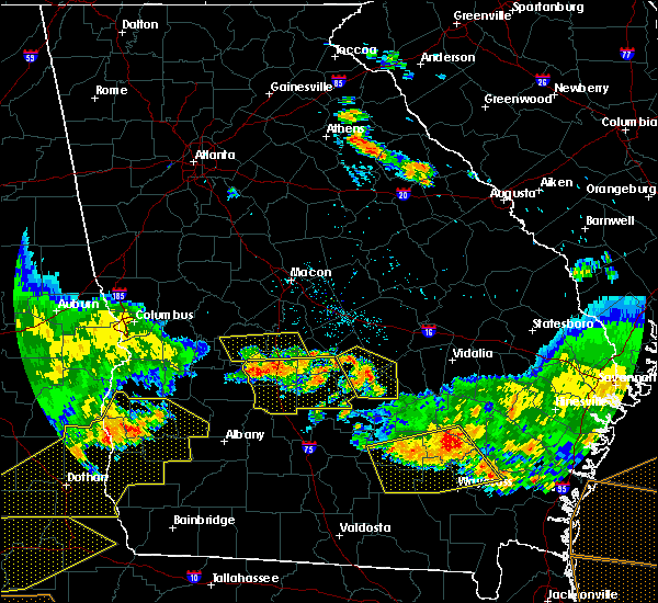 Radar Image for Severe Thunderstorms near Pitts, GA at 6/17/2016 8:27 PM EDT