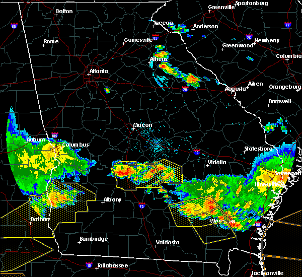 Radar Image for Severe Thunderstorms near Unadilla, GA at 6/17/2016 8:36 PM EDT