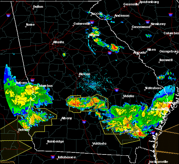 Radar Image for Severe Thunderstorms near Chauncey, GA at 6/17/2016 8:49 PM EDT