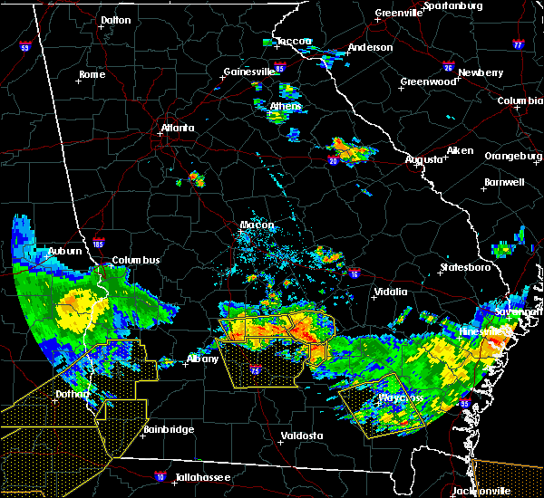 Radar Image for Severe Thunderstorms near Pitts, GA at 6/17/2016 9:17 PM EDT