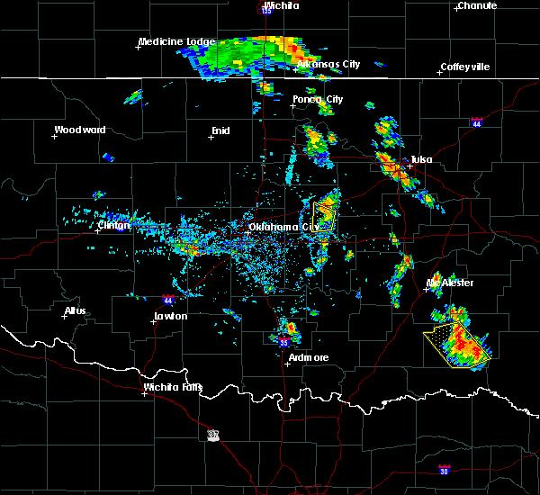 Radar Image for Severe Thunderstorms near Davenport, OK at 6/18/2016 6:16 PM CDT