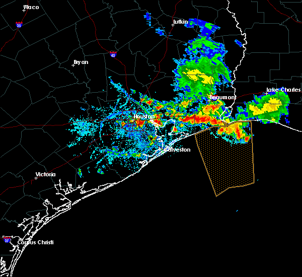 Radar Image for Severe Thunderstorms near Channelview, TX at 6/18/2016 6:25 PM CDT