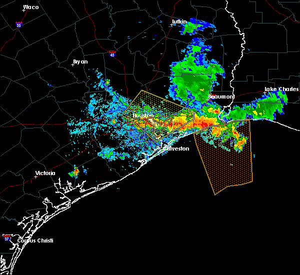 Radar Image for Severe Thunderstorms near Channelview, TX at 6/18/2016 6:49 PM CDT