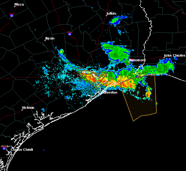 Radar Image for Severe Thunderstorms near Beach City, TX at 6/18/2016 7:14 PM CDT