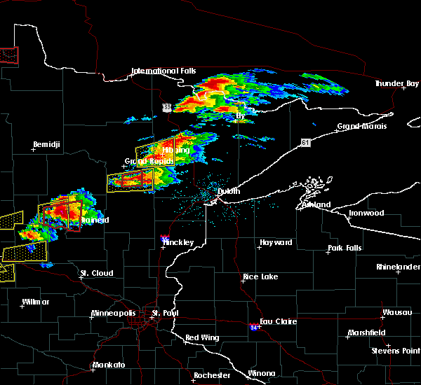 Radar Image for Severe Thunderstorms near Pequot Lakes, MN at 6/19/2016 6:38 PM CDT