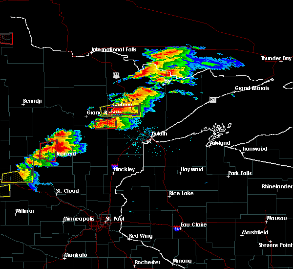 Radar Image for Severe Thunderstorms near Pequot Lakes, MN at 6/19/2016 6:50 PM CDT
