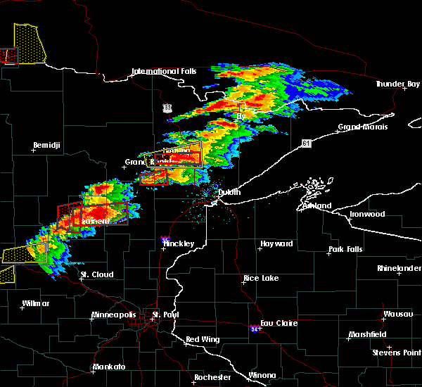 Radar Image for Severe Thunderstorms near Emily, MN at 6/19/2016 7:03 PM CDT