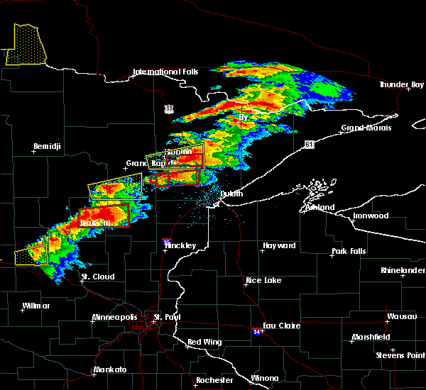 Radar Image for Severe Thunderstorms near Meadowlands, MN at 6/19/2016 7:09 PM CDT