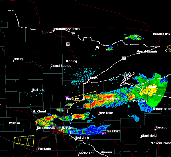 Radar Image for Severe Thunderstorms near Minong, WI at 6/19/2016 11:25 PM CDT