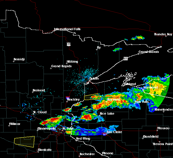 Radar Image for Severe Thunderstorms near Minong, WI at 6/19/2016 11:40 PM CDT