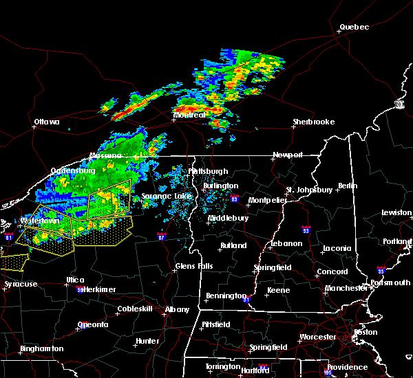 Radar Image for Severe Thunderstorms near Au Sable Forks, NY at 6/20/2016 10:46 PM EDT