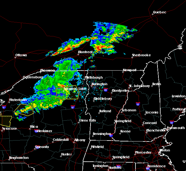 Radar Image for Severe Thunderstorms near Au Sable Forks, NY at 6/20/2016 11:10 PM EDT