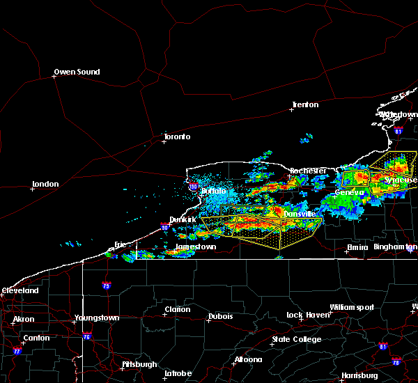 Radar Image for Severe Thunderstorms near Belfast, NY at 6/20/2016 11:44 PM EDT