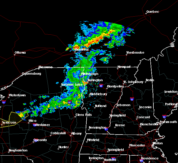Radar Image for Severe Thunderstorms near Hinesburg, VT at 6/20/2016 11:55 PM EDT