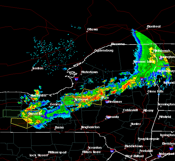 Radar Image for Severe Thunderstorms near Cold Brook, NY at 6/21/2016 12:10 AM EDT