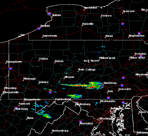 Radar Image for Severe Thunderstorms near Carlisle, PA at 6/21/2016 7:25 AM EDT