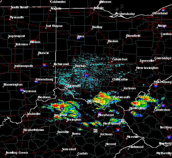 Radar Image for Severe Thunderstorms near West Union, OH at 6/21/2016 1:32 PM EDT