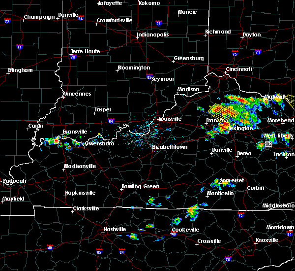 Radar Image for Severe Thunderstorms near Corinth, KY at 6/21/2016 1:50 PM EDT