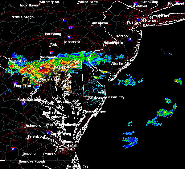 Radar Image for Severe Thunderstorms near Kingstown, MD at 6/21/2016 1:56 PM EDT