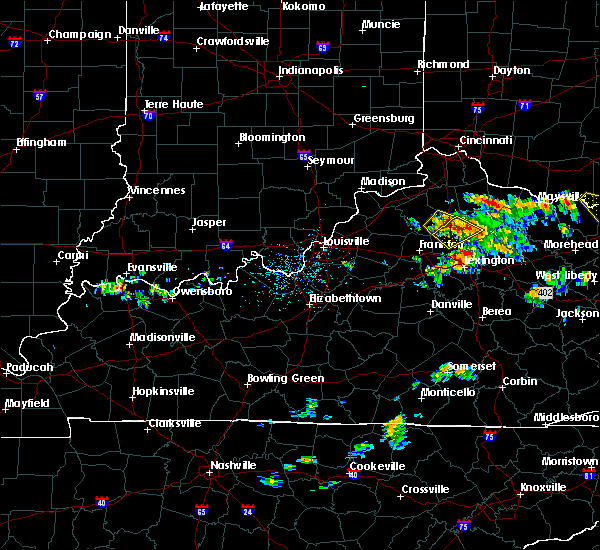 Radar Image for Severe Thunderstorms near Corinth, KY at 6/21/2016 1:56 PM EDT