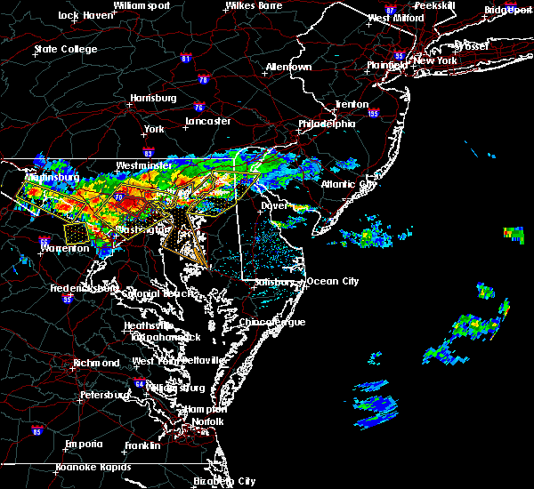 Radar Image for Severe Thunderstorms near Chestertown, MD at 6/21/2016 1:57 PM EDT