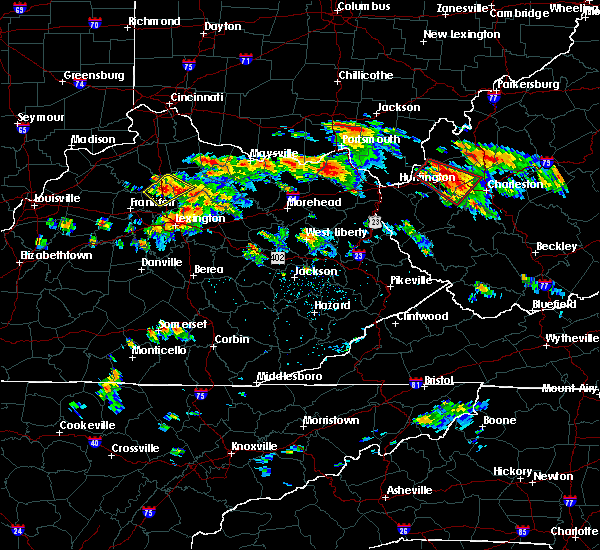 Radar Image for Severe Thunderstorms near Grayson, KY at 6/21/2016 2:06 PM EDT