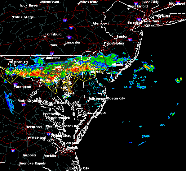 Radar Image for Severe Thunderstorms near Chestertown, MD at 6/21/2016 2:21 PM EDT