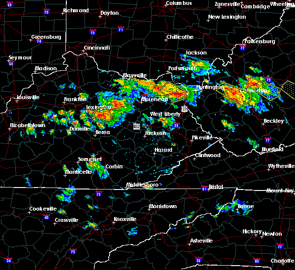 Radar Image for Severe Thunderstorms near Winchester, KY at 6/21/2016 2:40 PM EDT