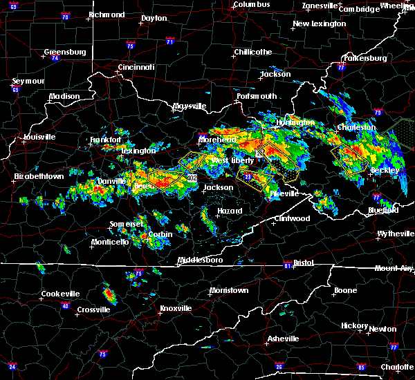 Radar Image for Severe Thunderstorms near Booneville, KY at 6/21/2016 3:28 PM EDT
