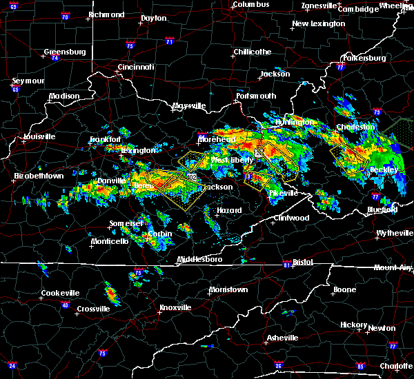 Radar Image for Severe Thunderstorms near Prestonsburg, KY at 6/21/2016 3:31 PM EDT