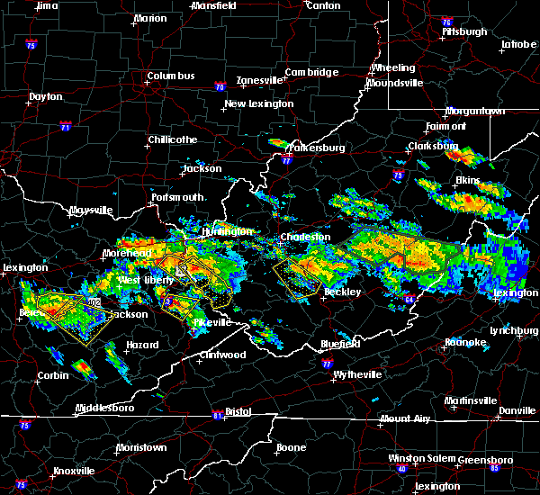 Radar Image for Severe Thunderstorms near Crum, WV at 6/21/2016 3:34 PM EDT