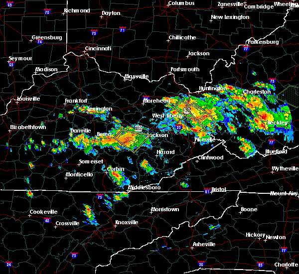 Radar Image for Severe Thunderstorms near Jackson, KY at 6/21/2016 3:53 PM EDT