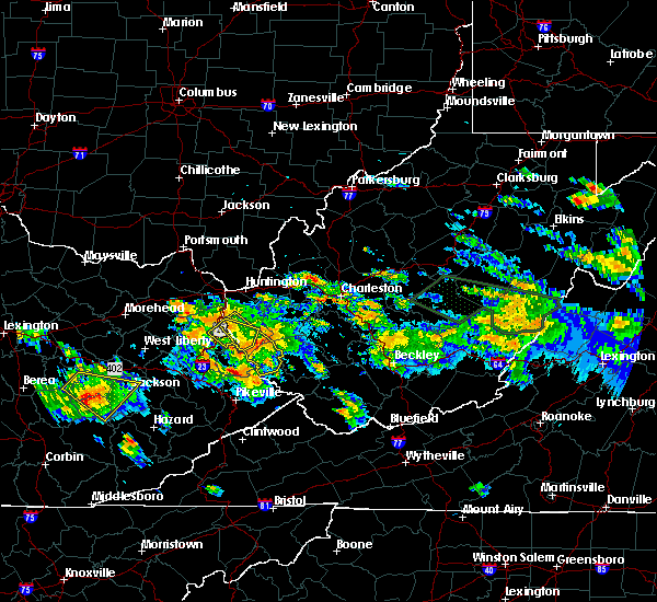 Radar Image for Severe Thunderstorms near Crum, WV at 6/21/2016 3:56 PM EDT