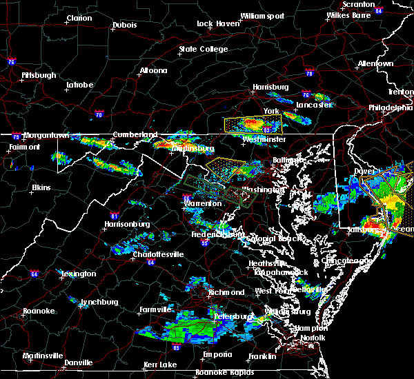 Radar Image for Severe Thunderstorms near Rohrersville, MD at 6/21/2016 8:22 PM EDT