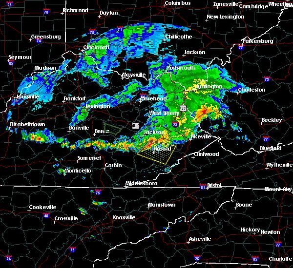 Radar Image for Severe Thunderstorms near Pippa Passes, KY at 6/22/2016 12:37 PM EDT