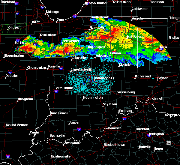 Radar Image for Severe Thunderstorms near Otterbein, IN at 6/23/2016 12:08 AM EDT
