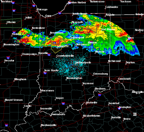 Radar Image for Severe Thunderstorms near Otterbein, IN at 6/23/2016 12:19 AM EDT